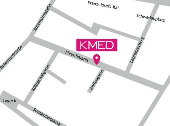 Lageplan KMED Fleischmarkt, 1010 Wien